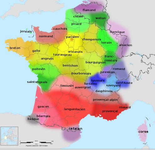Języki i dialekty we Francji